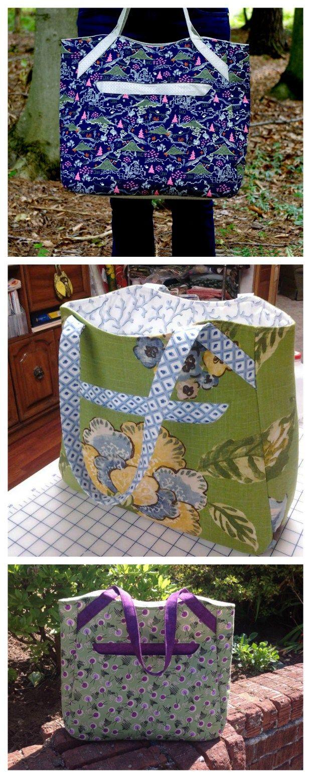 Alice Tote Bag - FREE pdf pattern | Taschen nähen, Nähen und ...