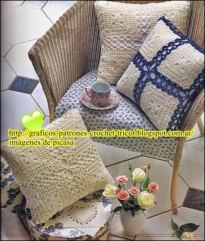 Vistoso Los Patrones De La Cubierta Del Sofá Ganchillo ...