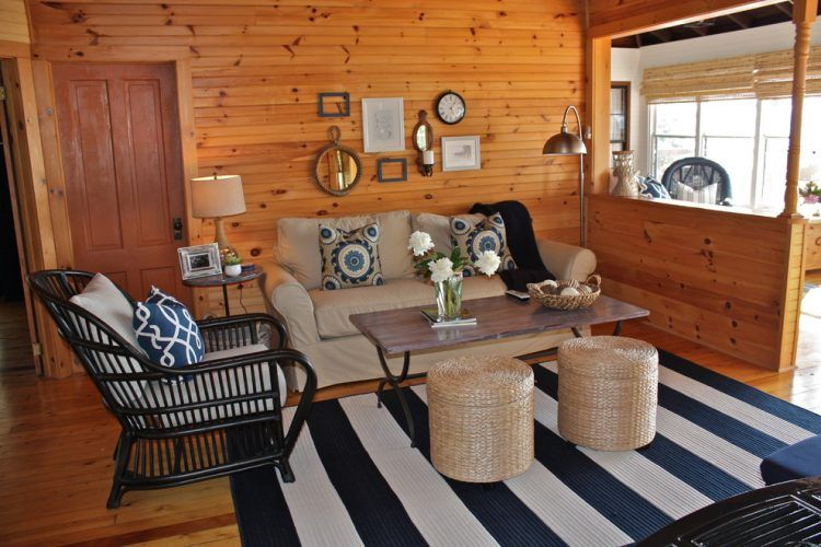 Knotty Pine Home Design Ideas Pictures Remodel And Decor Cabin Living Room Lake House Family Room Rustic Living Room