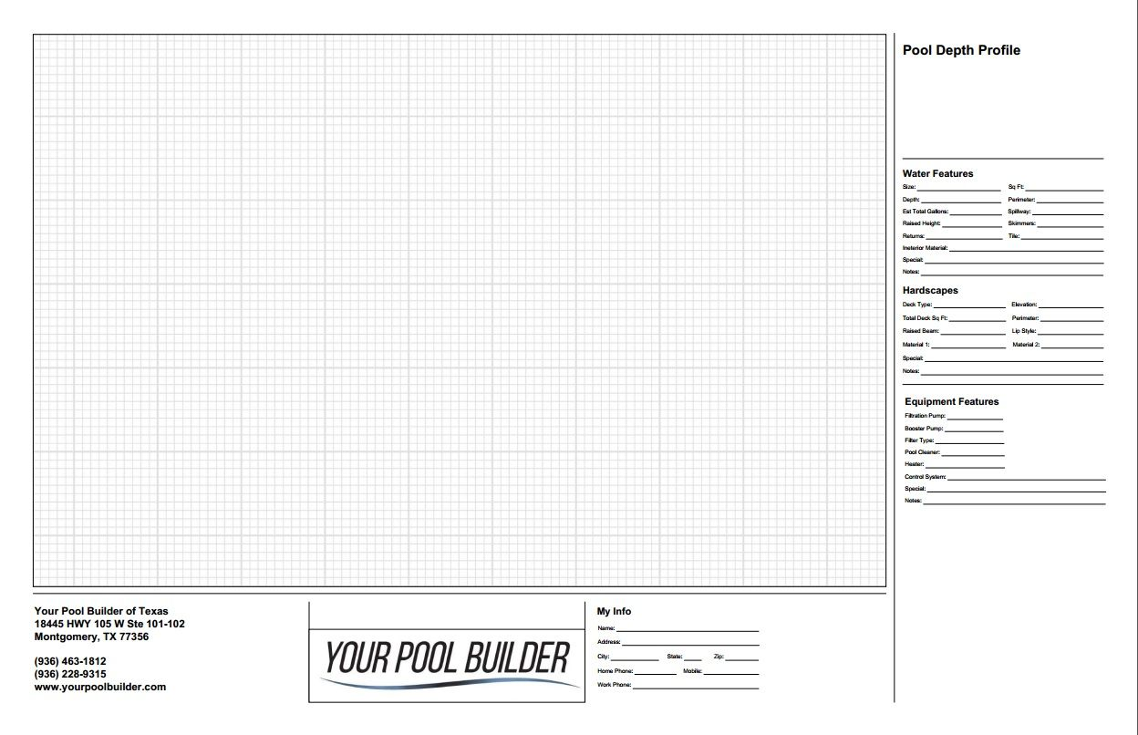 Swimming Pool Design Layout Plan Worksheet