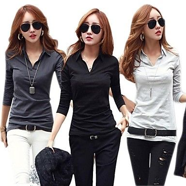 duopindun @ muoti Korean naisten ohut pitkähihainen t-paita S-XXL – EUR € 10.50