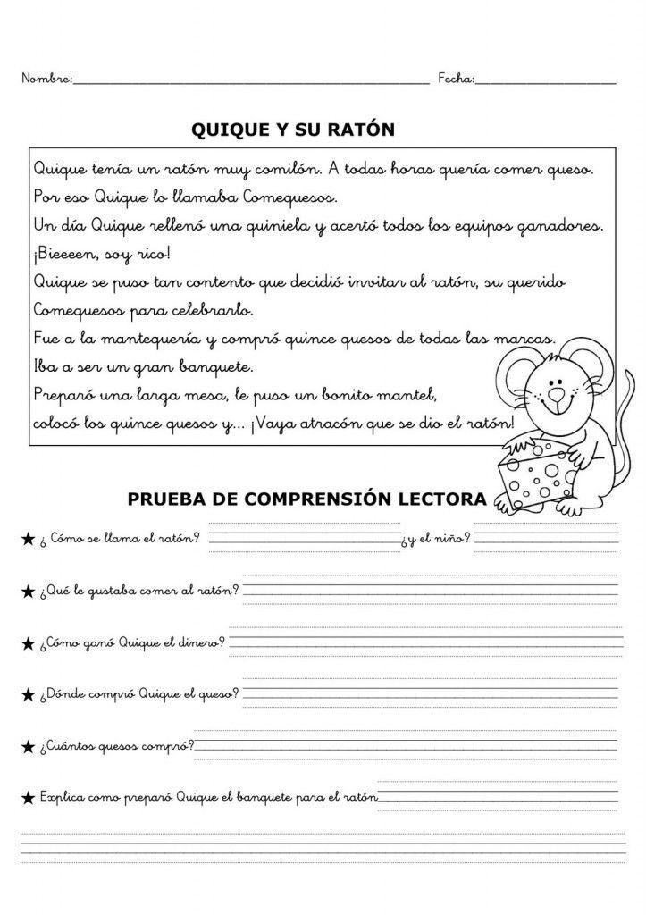Fichas De Comprensión Lectora Comprensión Lectora Lectura De Comprensión Lecturas Para Comprension Lectora