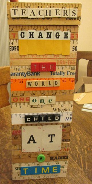 Teachers Change The World One Child At A Time Upcycled