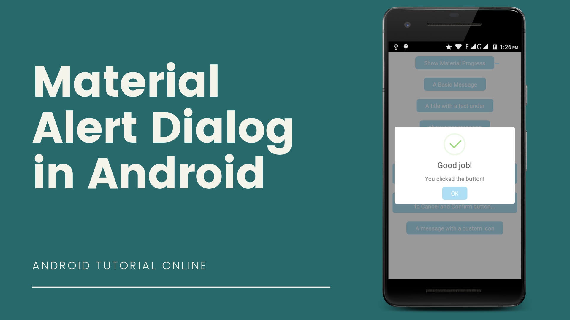 A beautiful and material alert dialog in android app