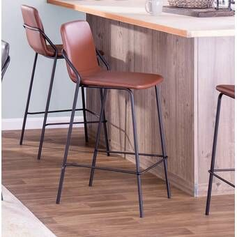 Langley Street Kylie Saddle Fixed Base Counter 25 Quot Bar
