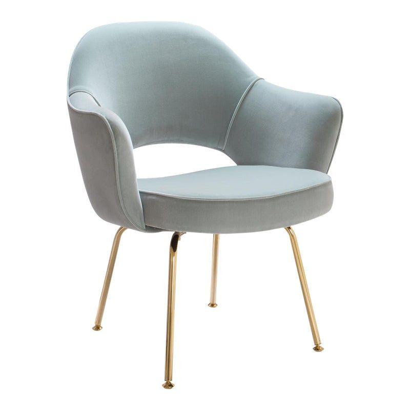 Original Vintage Saarinen Executive Arm Chairs Restored In