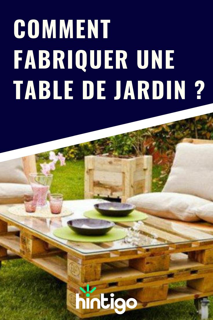 Comment fabriquer une table de jardin   Jardin   Outdoor furniture ...