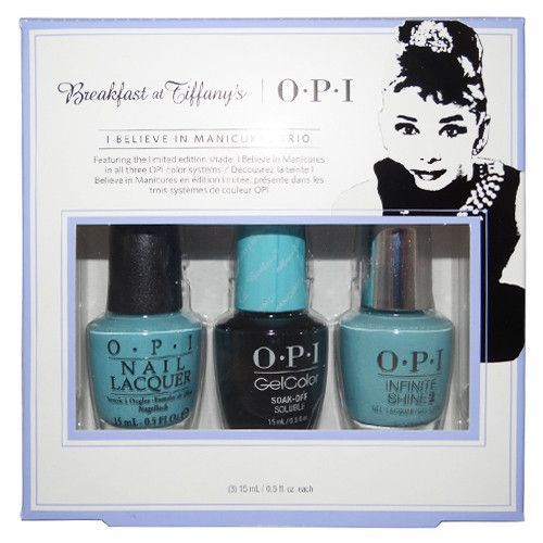 """OPI Breakfast at Tiffany's Collection """"I Believe in Manicures Trio"""" Nail Lacquer                                                                                                                                                                                 More"""