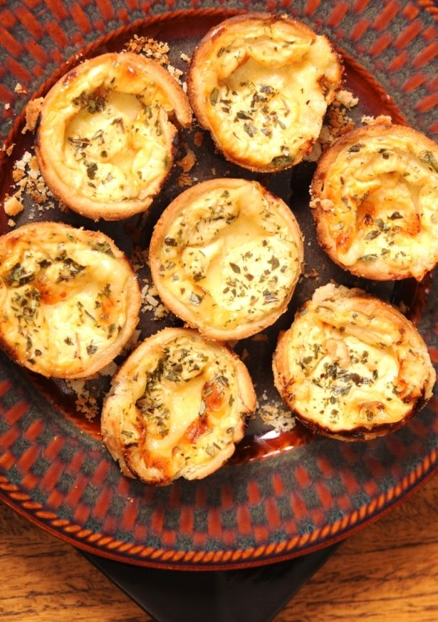 Julia Child's Easy Cheese Tartlets Recipe (could probably use pre-made frozen tartlet shells)