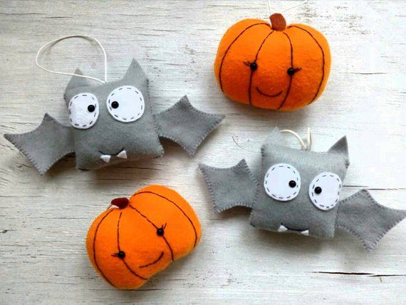 Halloween ornaments Cute Halloween ornament felt Halloween favors