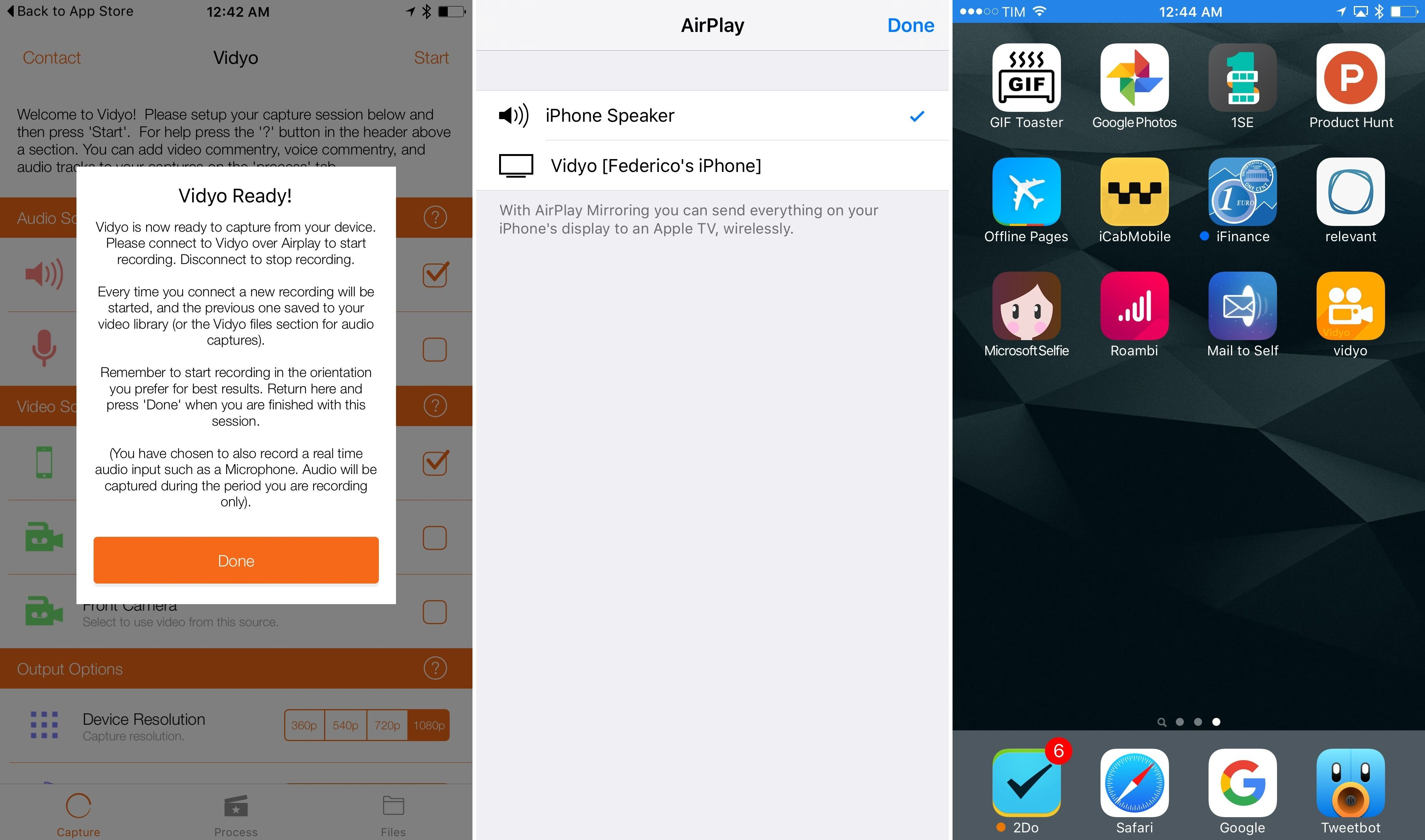 Vidyo, a Screen Recorder for iOS Screen recorder
