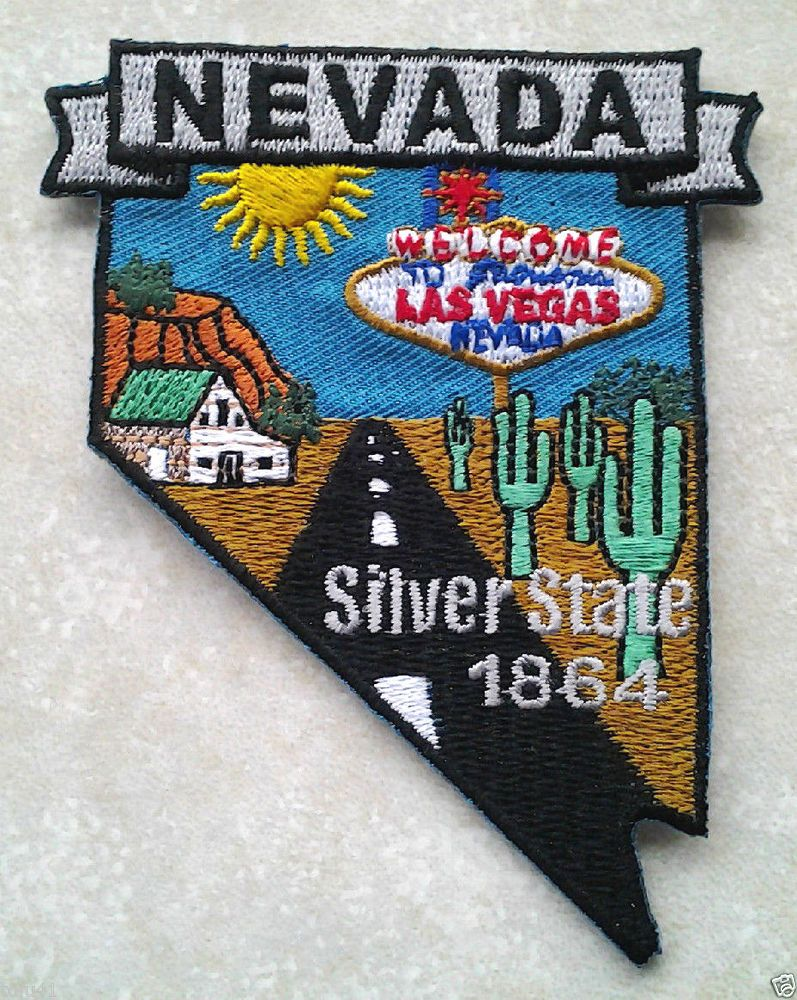 NEVADA STATE MAP  Biker Patch PM6729 EE