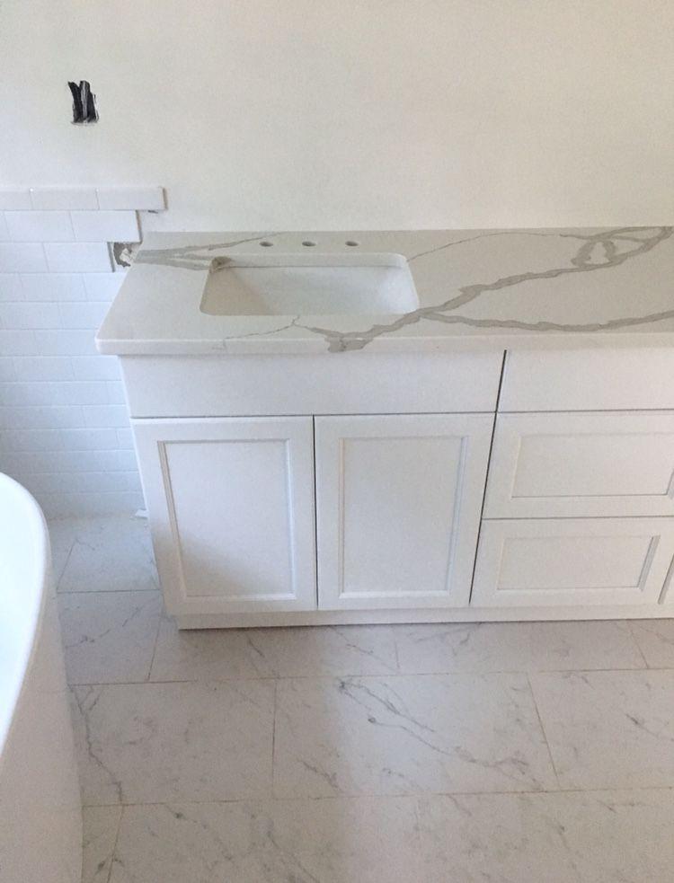Home Renovation Progress White Master Bathroom Amazing