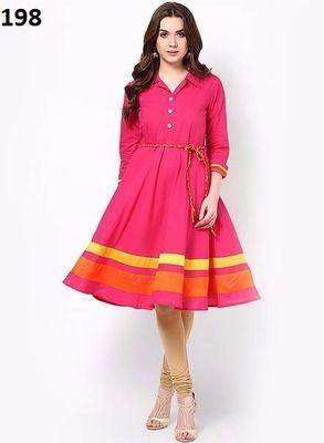 a722c64fe9b Kana Fashion Amazing Pink Cotton Designer Kurti Kurtas and Kurtis For Women  on Shimply.com