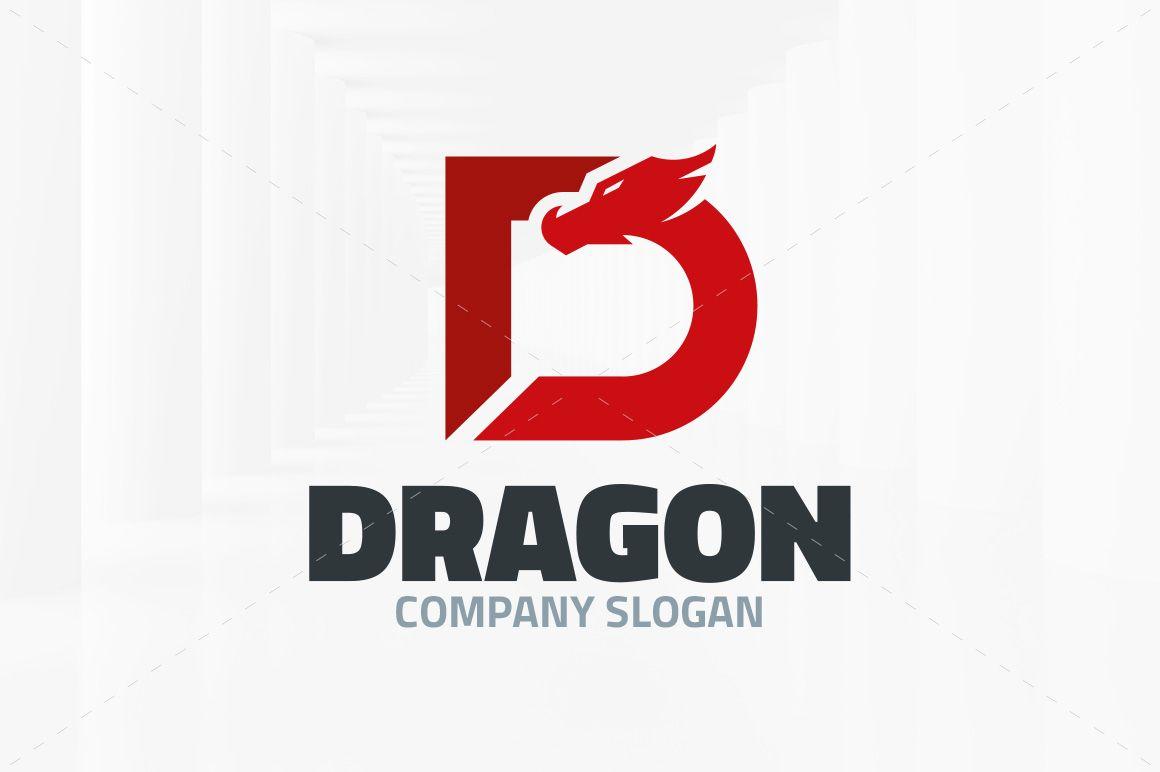Dragon Letter D Logo Logo Dragon Lettering Logo Templates