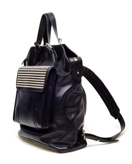 e6a0038a182 Christian Louboutin Black Syd Spiked Leather Backpack #HTCOneRed ...