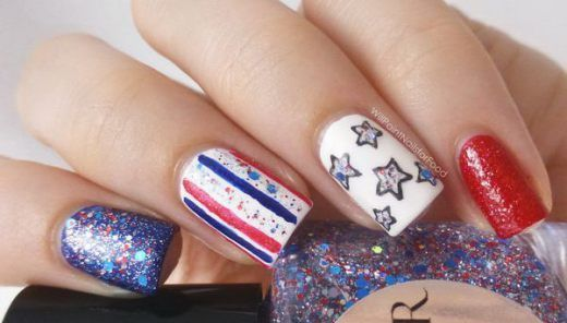 20+ Glitter 4th of July Nail Art Ideas & Tutorials