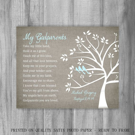 Where In The Bible Does It Talk About Christmas Trees: Godparents Gift From GodChild Personalized By