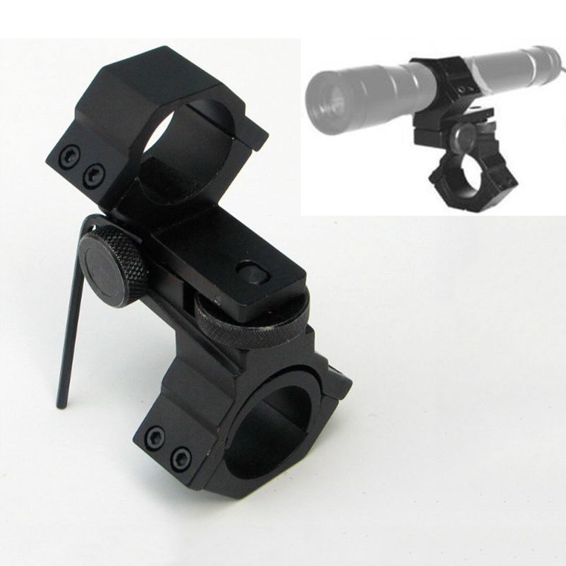 25.4mm//30mm Double Ring Mount Adjustable Elevation Windage For Scope//Torch//Sight