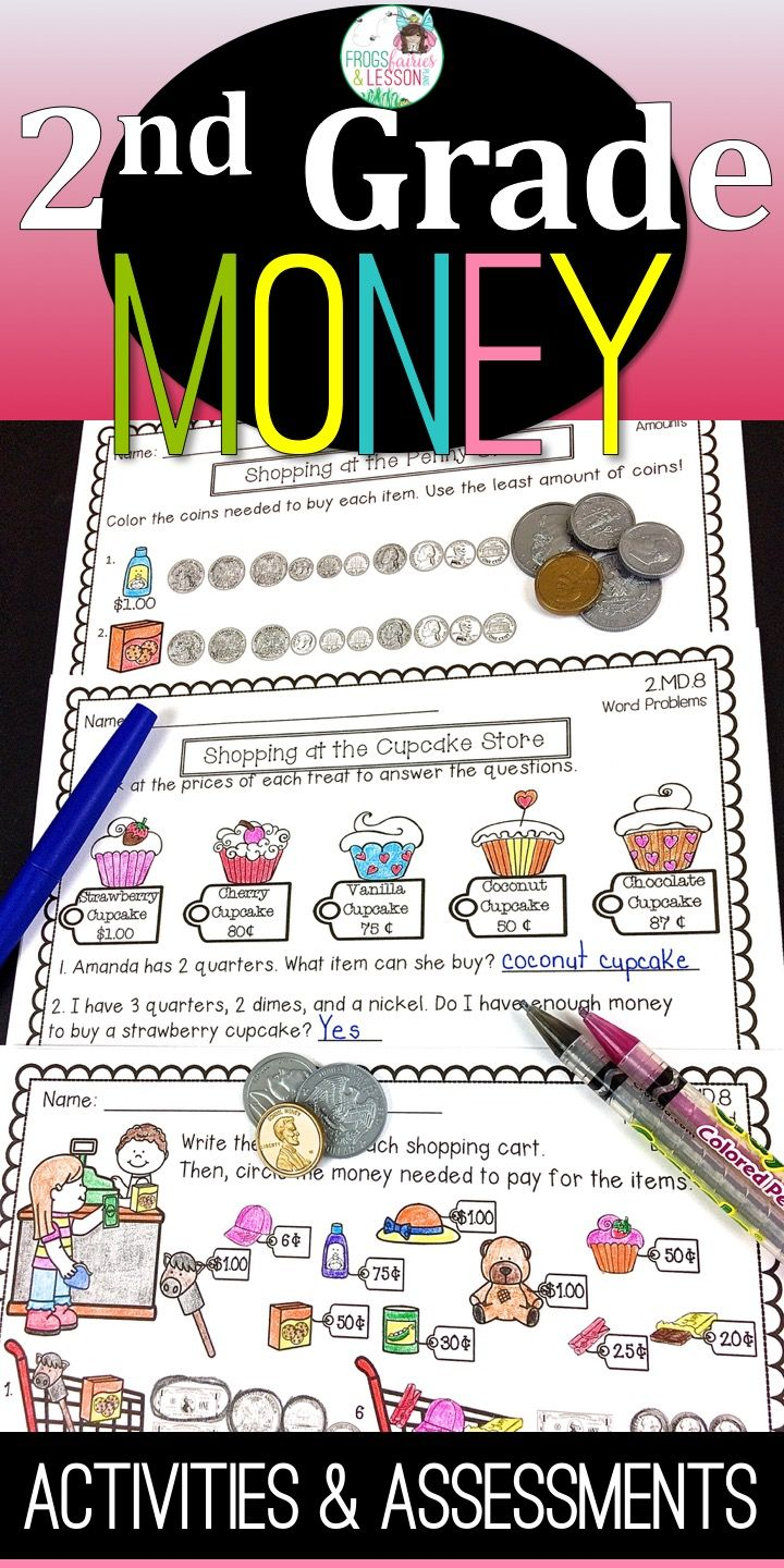 Money Activities and Assessments | Money activities, Word problems ...