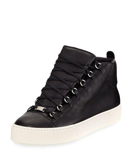 76a2042d31e8 BALENCIAGA Men S Arena R17 Leather High-Top Sneaker