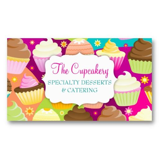 Colorful cupcakes business card templates cupcake shaped business colorful cupcakes business card templates wajeb Images