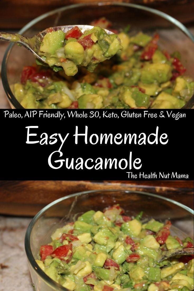 Easy Homemade Guacamole - The Health Nut Mama Easy Homemade Guacamole is so easy to make I wish I h