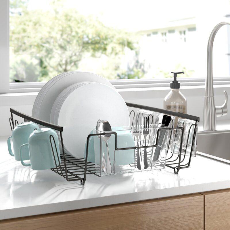 Declan Steel In Sink Dish Rack In 2021 Dish Racks Sink Dish Rack Sink