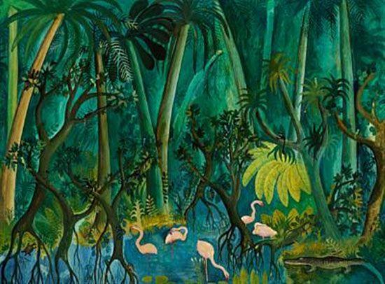 Jungle And Animals Paintings By Danish Hans Scherfig Malerier Kunstnere Billedkunst