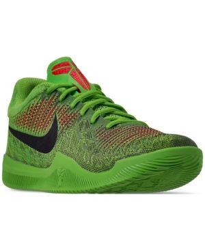 b61f4b8204f5 Nike Men s Kobe Mamba Rage Basketball Sneakers from Finish Line - Green 11