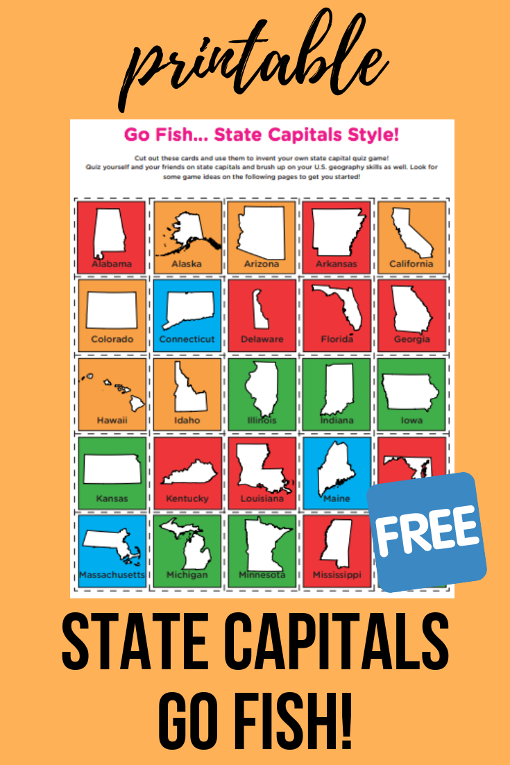 Photo of State Capitals Go Fish! | Worksheet | Education.com
