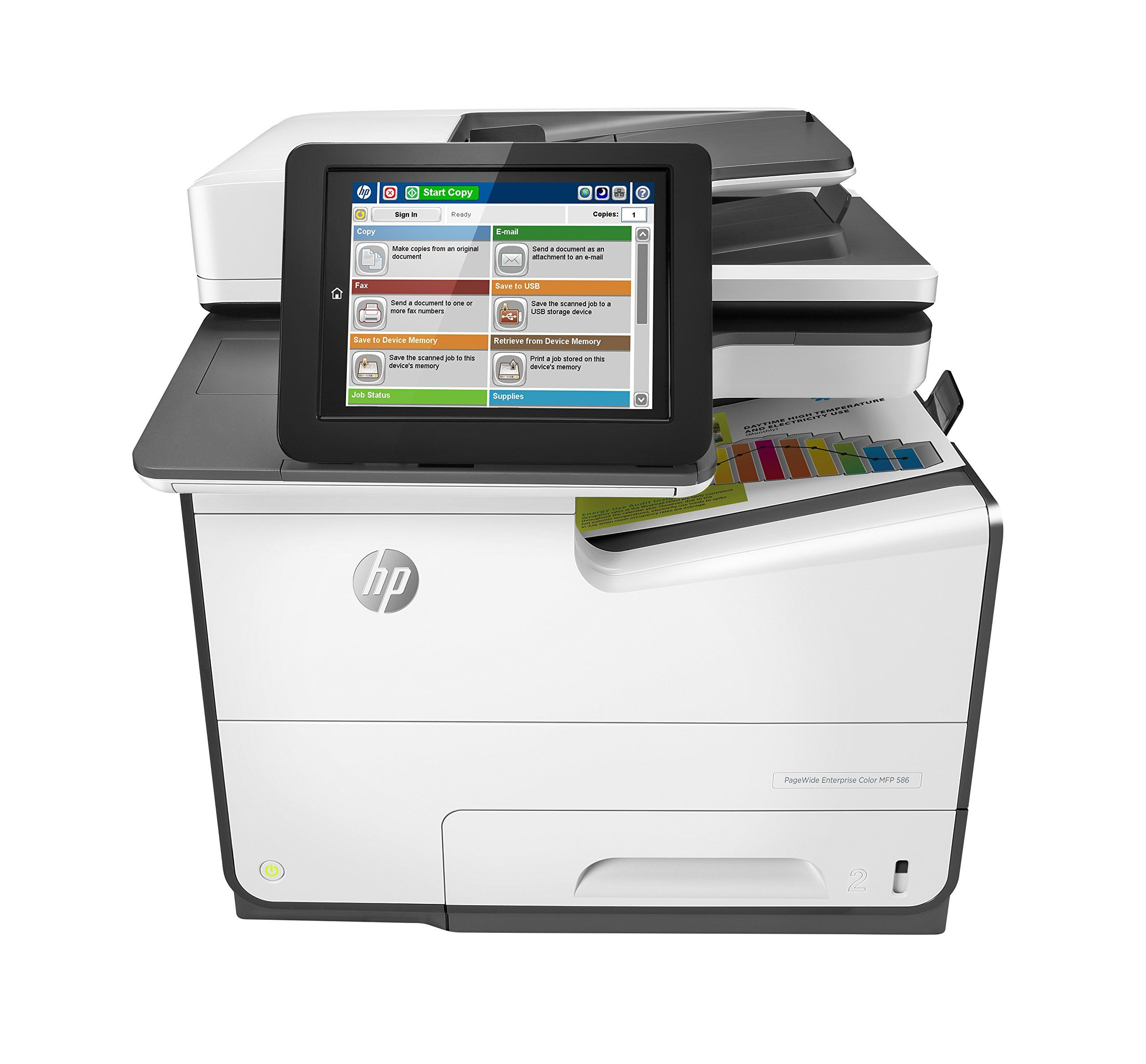 Hp Pagewide 586f Clr Pagewide Visit The Image Link More Details Affiliate Link Computerprinters Multifunction Printer Printer Printing Double Sided