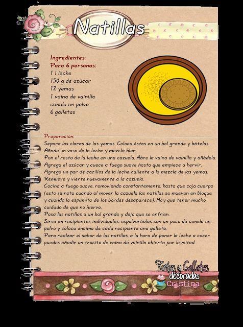 Tartas, Galletas Decoradas y Cupcakes: Natillas | https://lomejordelaweb.es/