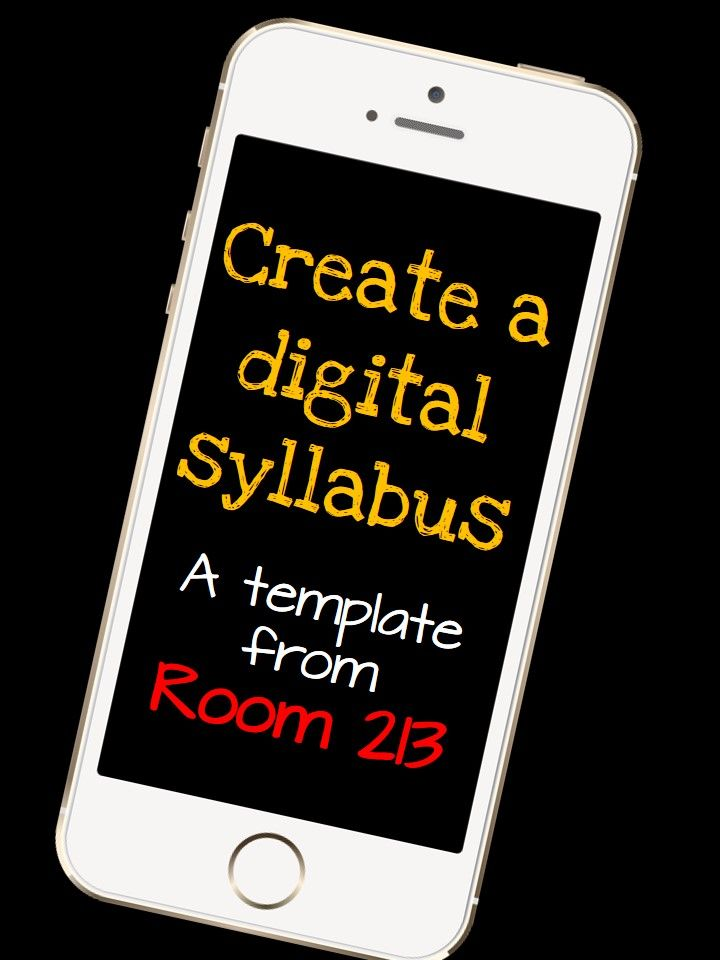 Create a digital syllabus for the start of the semester for Create a syllabus template