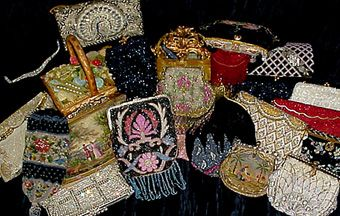 these vintage sequin type purses would look good in my curio case