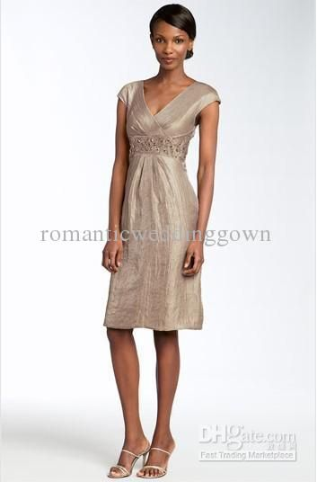 Wholesale Patra Beaded Crinkled Satin Dress (Petite)/Mother of the Bride Dresses, Free shipping, $89.87-120.23/Piece | DHgate