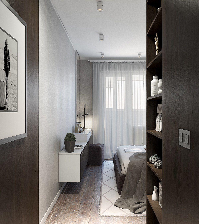 Modern 1 Bedroom Apartment: Spacious-Looking, One Bedroom Apartment With Dark Wood