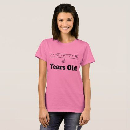 c3236385 #18 Years Old Algebra Equation Funny 18th Birthday T-Shirt - #birthday  #gift #present #giftidea #idea #gifts