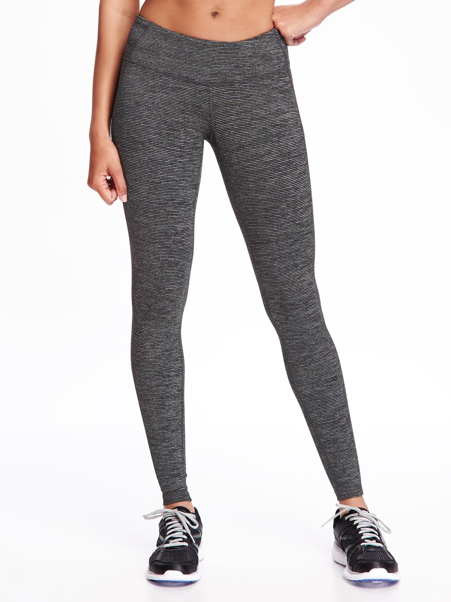 d2f1eac6af Go-Dry Mid-Rise Textured-Print Compression Tights for Women Old Navy |  S.T.Y.L.E. | Leggings, Leggings are not pants, Old navy leggings