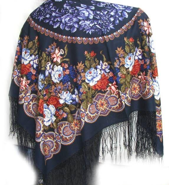 Ткань из павлопосадских платков купить ткань искусственный шелк