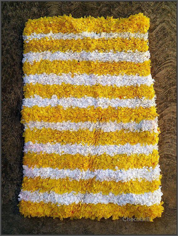 Bath Mat Crocheted Plastic Bags Design Objects Decor