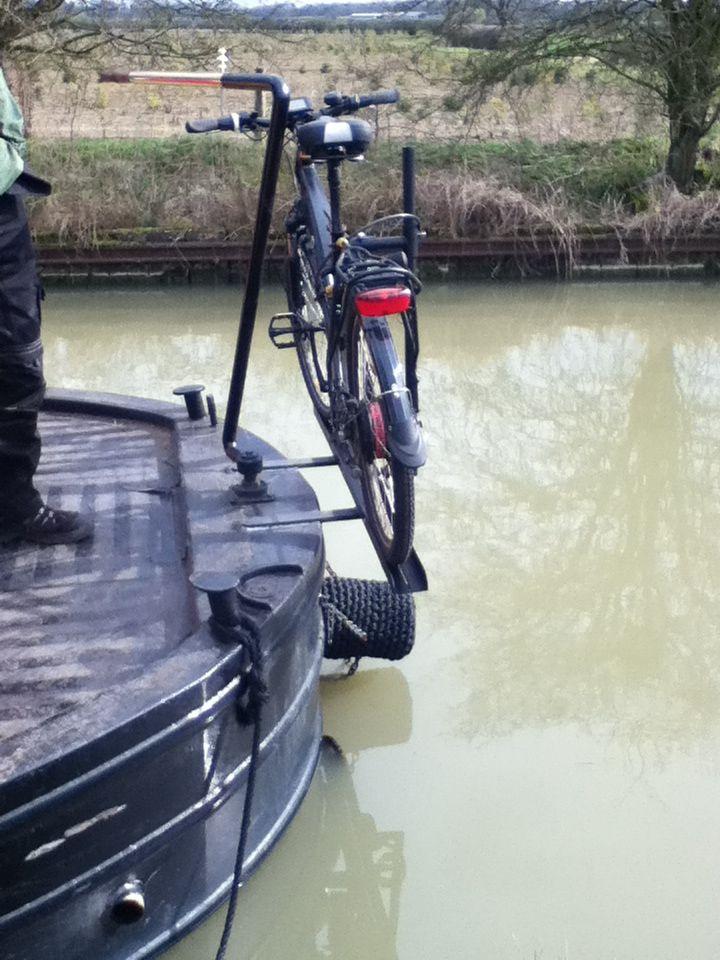 Bike Rack 2 Husb 229 D Narrowboat Canal Boat Narrowboat