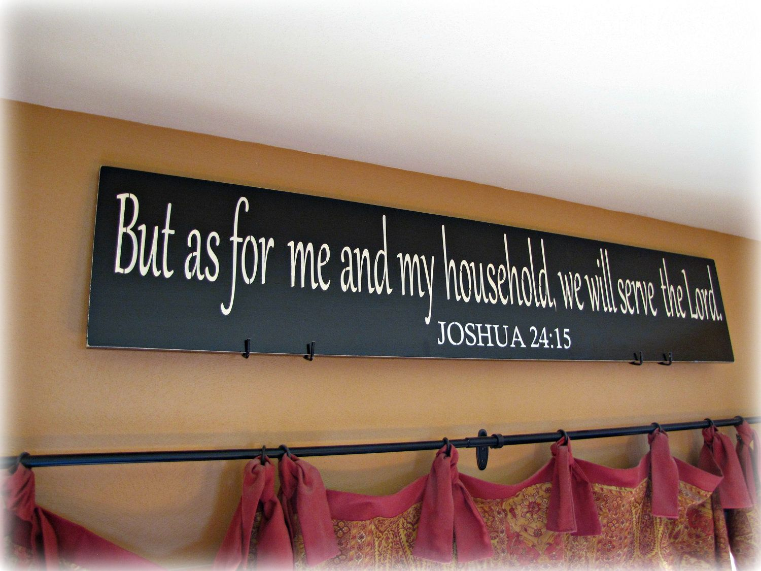 Christian Wall Decor as for me and my household- joshua christian wall decor | cellar