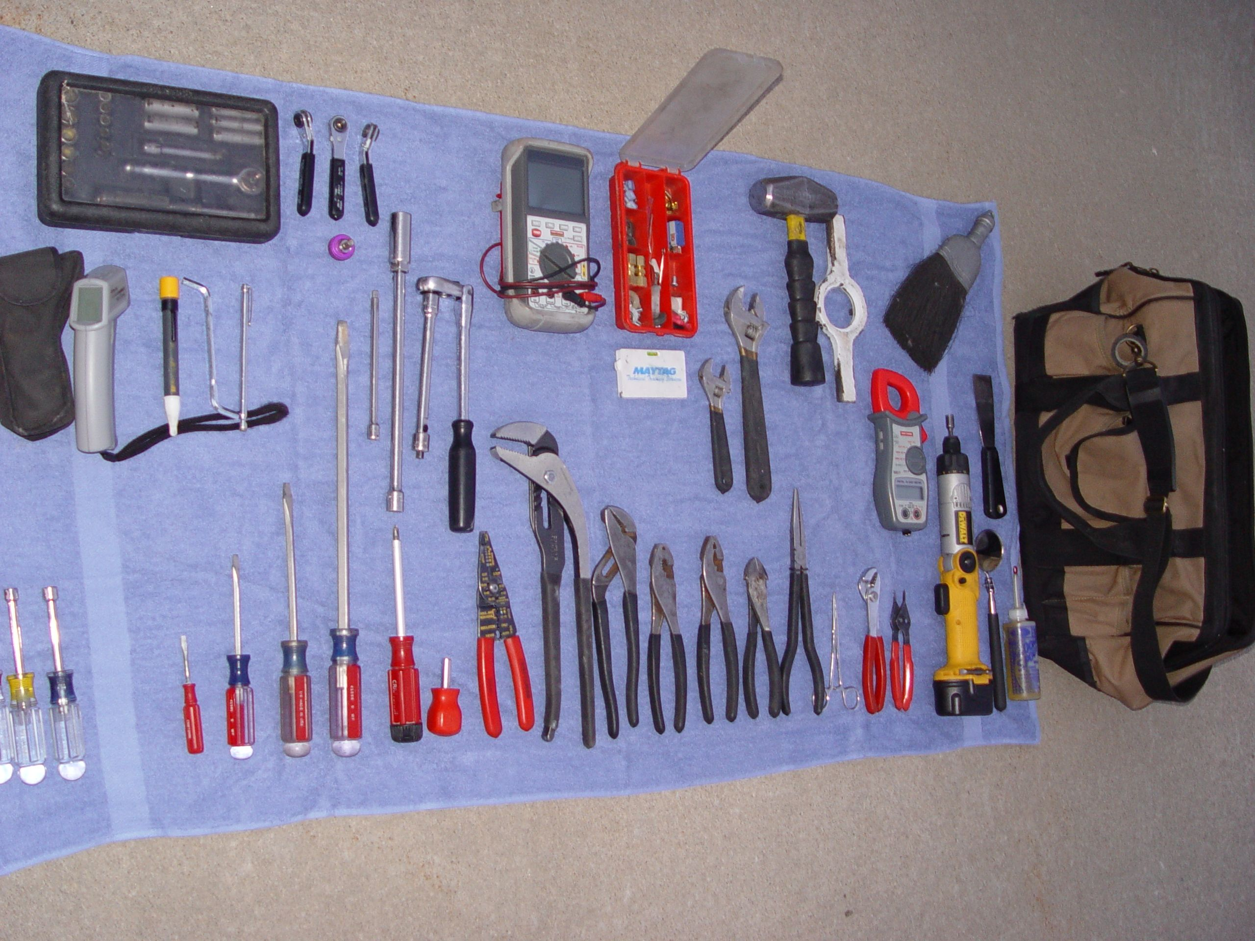 My Appliance Repair Tool Bag Its Amazing What 20 Years Of
