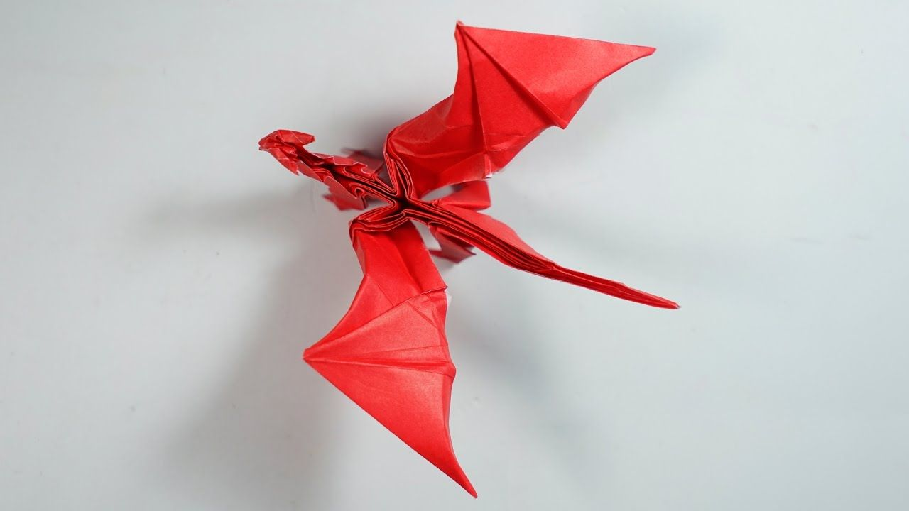 Origami Dragon 8 0 Intermediate Version Tutorial Henry Pham Origami Instructions Origami Easy Origami Crafts