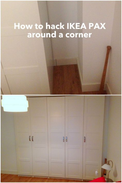 Hacking A Pax Around A Corner Ikea Hackers Ikea Pax Corner Wardrobe Ikea Pax Pax Corner Wardrobe