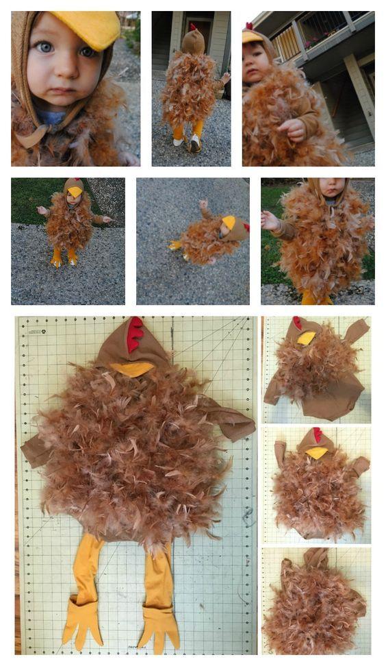 Bawk! Bawk! (A DIY Toddler Chicken Halloween Costume Tutorial) #toddlerhalloween