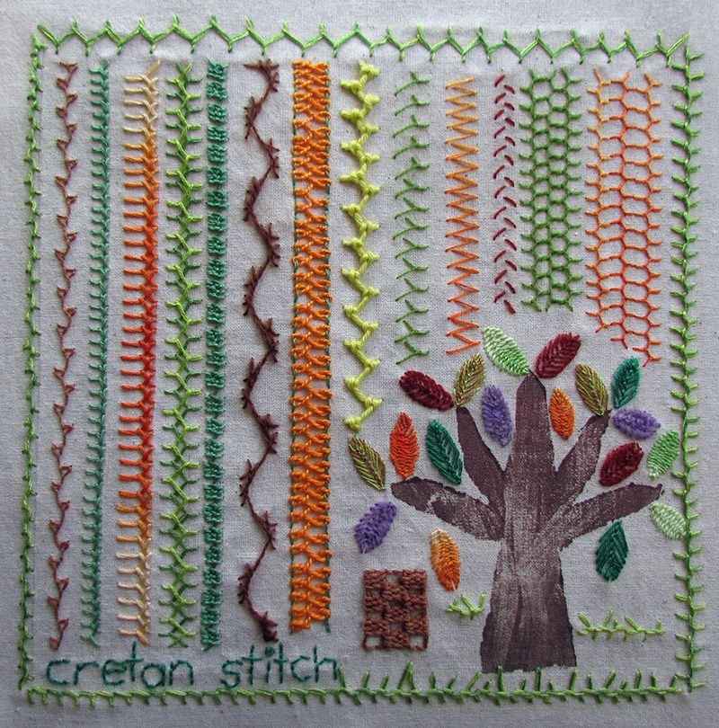 Knitting Embroidery Bordado : Variations on cretan stitch embroidery with a woodblock