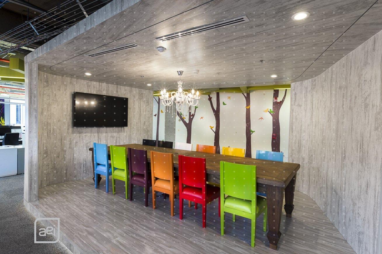 Oficinas de groupm en bogot colombia dise o y for Diseno de espacios interiores