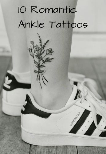 10 Romantic Ankle Tattoos